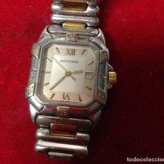 Vintage: RELOJ VINTAGE BUCHERER QUARTZ ACERO -ORO- FUNCIONANDO.. Lote 234592485