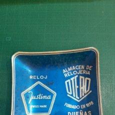 Vintage: RELOG JUSTINA RELIGERIA OTERO PALENCIA DUEÑAS CENICERO VINTAGE. Lote 234900445
