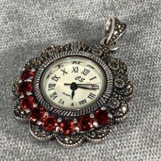 Vintage: RELOJ COLGANTE EN PLATA CONTRASTADA 925 -. Lote 234963565