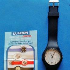 Vintage: RELOJ PERIODICO LA RAZON. FINAL SIGLO XX. SIN ESTRENAR. EL ENVIO ESTA INCLLUIDO.. Lote 235321800