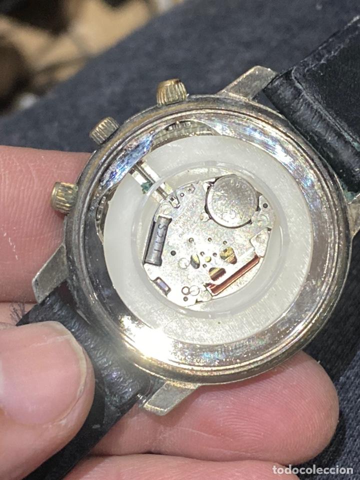 Vintage: Antiguo reloj francés raro cronógrafo con dos biseles.funciona perfectamente - Foto 3 - 235601930