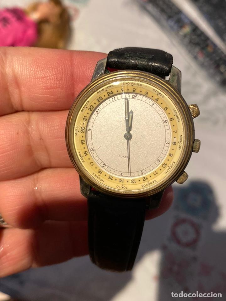 ANTIGUO RELOJ FRANCÉS RARO CRONÓGRAFO CON DOS BISELES.FUNCIONA PERFECTAMENTE (Relojes - Relojes Vintage )