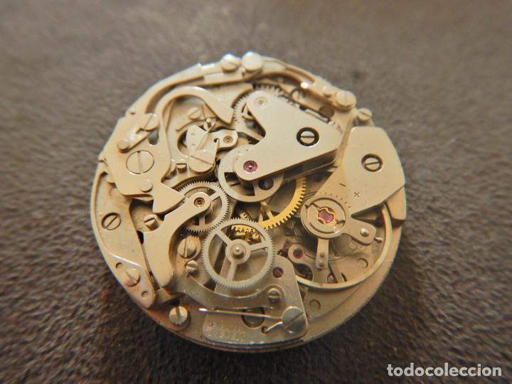 Vintage: Reloj cronógrafo manual Halcon Valjoux 7733 - Foto 7 - 236512400