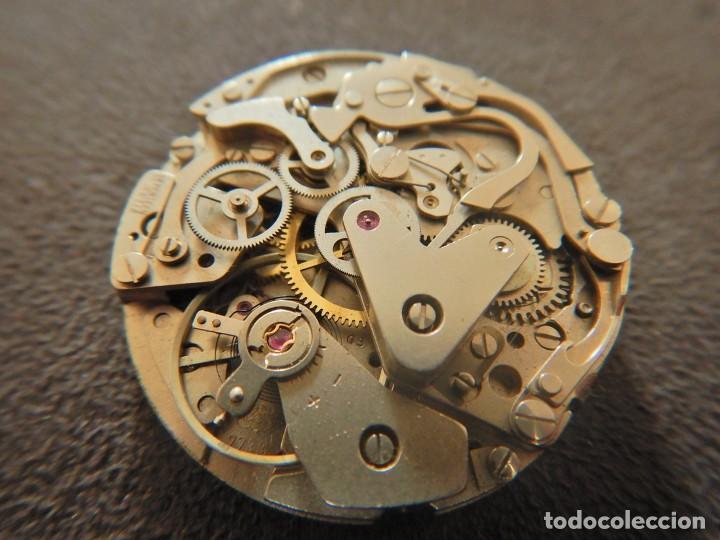 Vintage: Reloj cronógrafo manual Halcon Valjoux 7733 - Foto 2 - 236512400