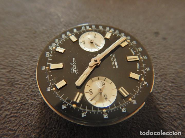 Vintage: Reloj cronógrafo manual Halcon Valjoux 7733 - Foto 3 - 236512400