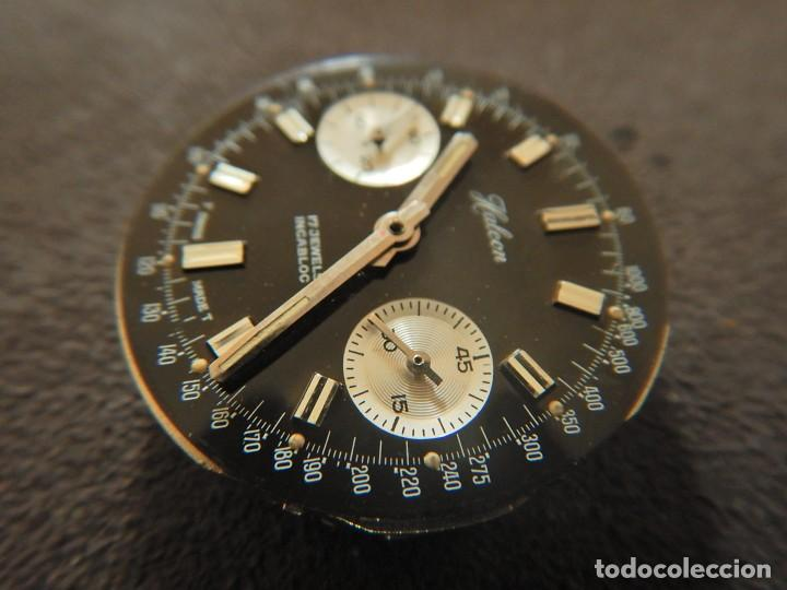 Vintage: Reloj cronógrafo manual Halcon Valjoux 7733 - Foto 4 - 236512400