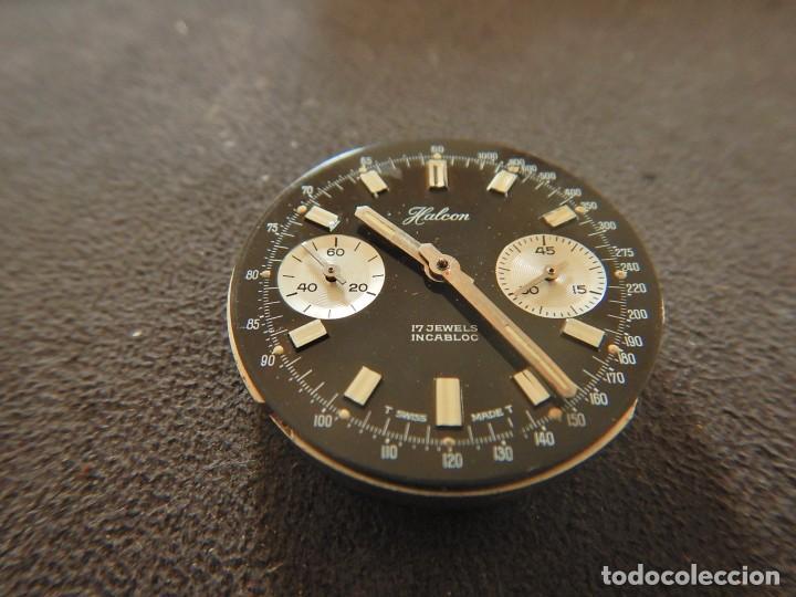 RELOJ CRONÓGRAFO MANUAL HALCON VALJOUX 7733 (Relojes - Relojes Vintage )