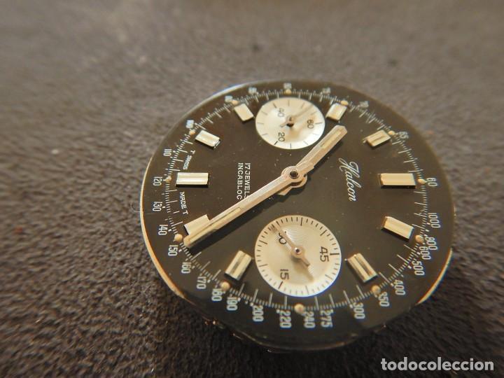 Vintage: Reloj cronógrafo manual Halcon Valjoux 7733 - Foto 6 - 236512400