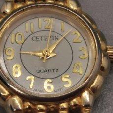 Vintage: RELOJ ZETEZIN 18K ELECTRO PLATED GOLD WATER RESISTANT. Lote 237329690