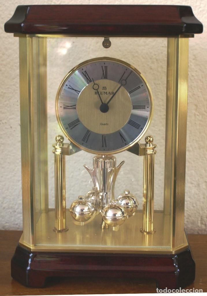 RELOJ DE SOBREMESA BLUMAR QUARTZ (PILA) FUNCIONANDO TODO EL SISTEMA - MOVIMIENTO GIRATORIO ROTATORIO (Relojes - Relojes Vintage )