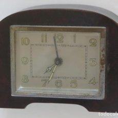 Vintage: ANTIGUO RELOJ-DESPERTADOR SIN MARCA. CAJA DE MADERA. Lote 238646425