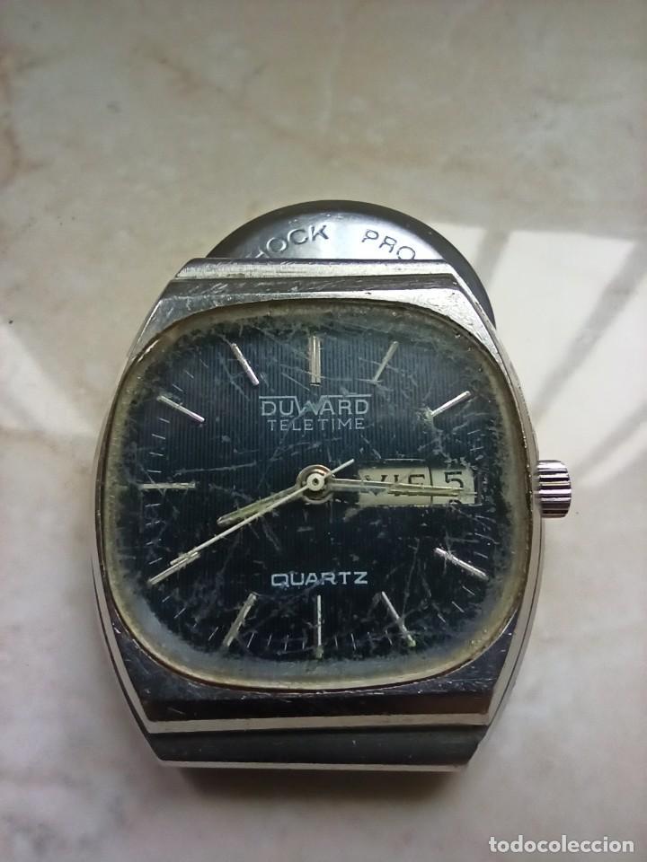 DUWARD TELETIME QUARTZ 5 JEWELS (Relojes - Relojes Vintage )