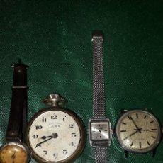 Vintage: CUATRO RELOJES. Lote 243466585