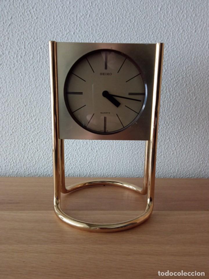 Vintage: Reloj de sobremesa SEIKO. En marcha - Foto 5 - 243604075