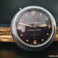 Vintage: ANTIGUO RELOJ DE COCHE DESOTO- BENRUS DESOTOMATIC - FUNCIONANDO. Lote 244806960
