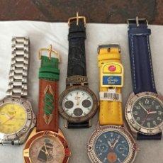 Vintage: LOTE DE 5 RELOJES NUEVOS SIN ESTRENAR FUNCIONANDO CUARZO JAPAN. Lote 244875540