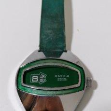 Vintage: RARO RELOJ RAVISA DIGITAL SWISS MADE - AÑOS 70. Lote 245274705