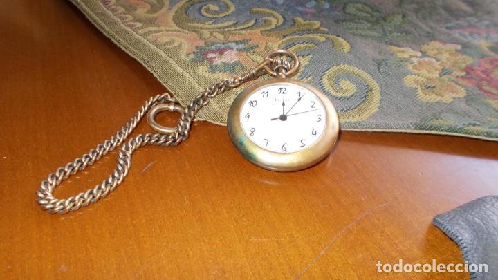 GRAN RELOJ DE BOLSILLO DE LA MARCA FERPEL, HECHO EN SUIZA FUNCIONA PERFECTAMENTE,CON SU CADENA (Relojes - Relojes Vintage )