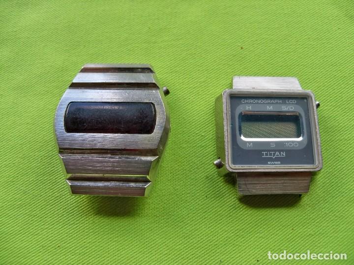 DOS ANTIGUOS RELOJES DIGITALES DE PILAS (Relojes - Relojes Vintage )