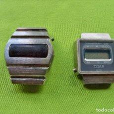 Vintage: DOS ANTIGUOS RELOJES DIGITALES DE PILAS. Lote 252485490