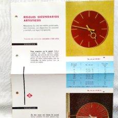 Vintage: AÑOS 50-60 - RELOJES SECUNDARIOS ARTÍSTICOS. Lote 253137780