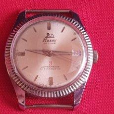 Vintage: RELOJ MASSY DE LUX 21 WATERPROOF ANTIMAGNETIC NO FUNCIONA. MIDE 36 MM DIAMETRO. Lote 253356775