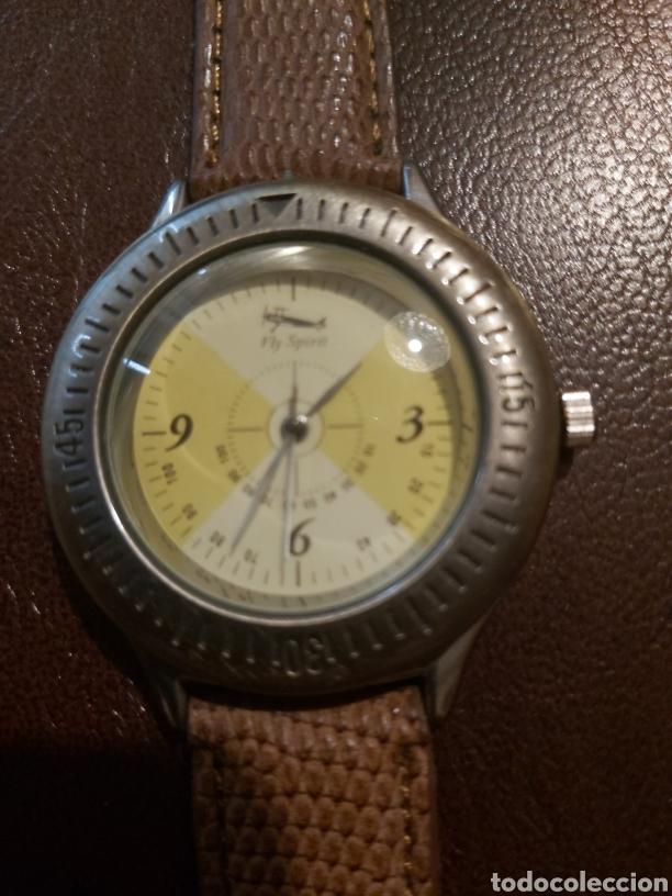 RELOJ FLY SPIRIT DE QUARZO MIDE 4 CM. COMO NUEVO. (Relojes - Relojes Vintage )