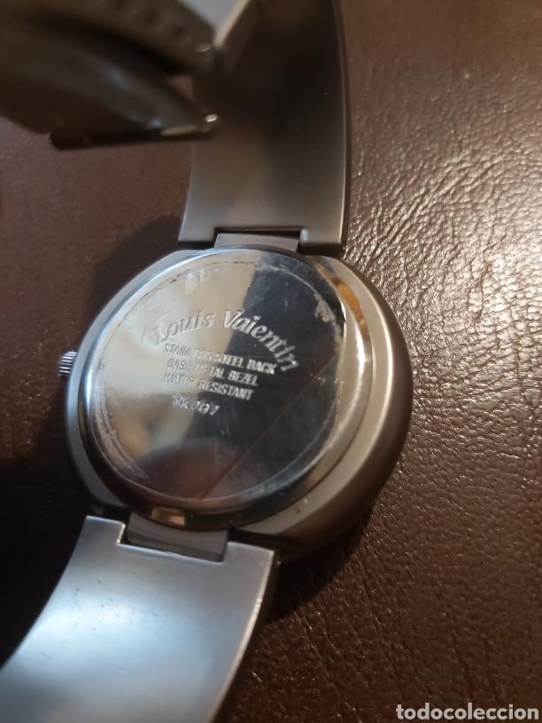 Vintage: Reloj de pulsera de caballero marca Louis Valentín, esfera en azul cobalto - Foto 3 - 254313220