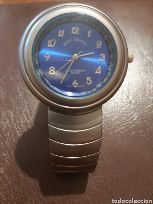 RELOJ DE PULSERA DE CABALLERO MARCA LOUIS VALENTÍN, ESFERA EN AZUL COBALTO (Relojes - Relojes Vintage )