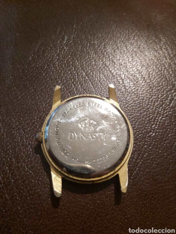 Vintage: Caja de reloj Dynasty sin correa. Se tiene que poner pilas. Maquinaria suiza. Base metal bezel. - Foto 2 - 254316440