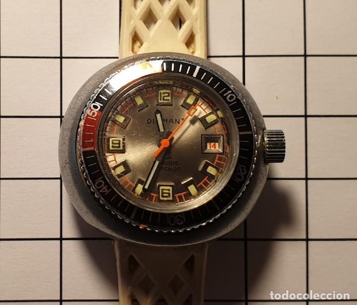 RELOJ DIAMANT ANTICHOC WATERPROOF. 21 RUBIS. RETRO. VINTAGE. MUJER - SIN USAR - 3,5X3,5 CM (Relojes - Relojes Vintage )
