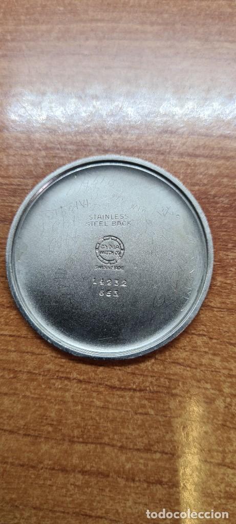 Vintage: Reloj (Vintage) CYMA Acero de cuerda calibre CYMA 586K, esfera blanca, agujas originales 17 rubíes. - Foto 16 - 255431650