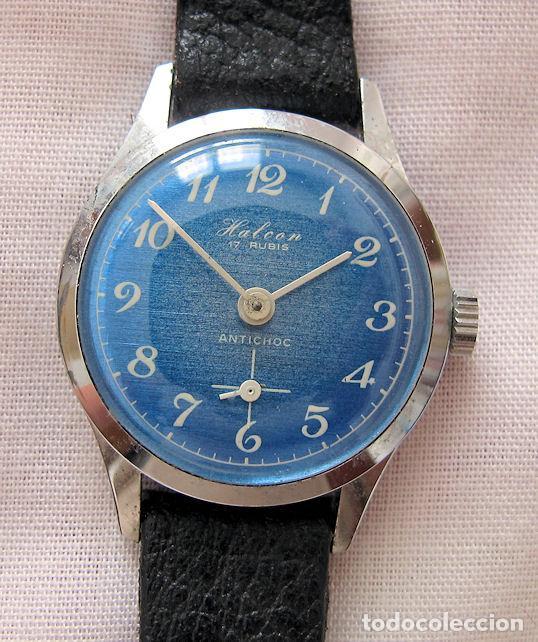 RELOJ DE CUERDA VINTAGE DAMA NOS HALCON AZUL (Relojes - Relojes Vintage )