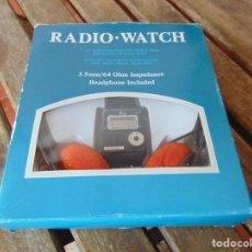Vintage: RELOJ RADIO WATCH CON CAJA Y AURICULARES, SIN USO ,NO ESTA PROBADO. Lote 259058475