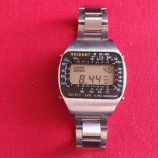Vintage: RELOJ RADIANT CUARZO LCD FUNCIONA PERO LOS BOTONES NO FUNCIONAN .MIDE 35.9MM DIAMETRO. Lote 260839710