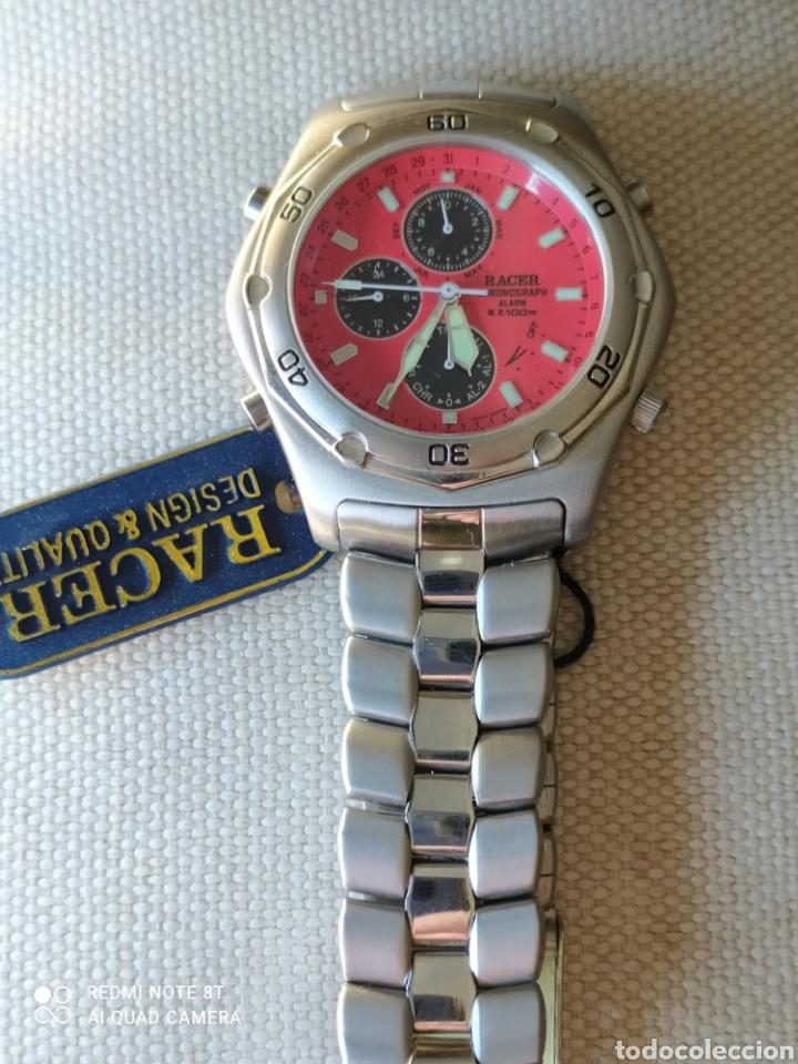 Vintage: Reloj Racer cronógrafo alarma, W.R.100 metros, de stock - Foto 3 - 261065325