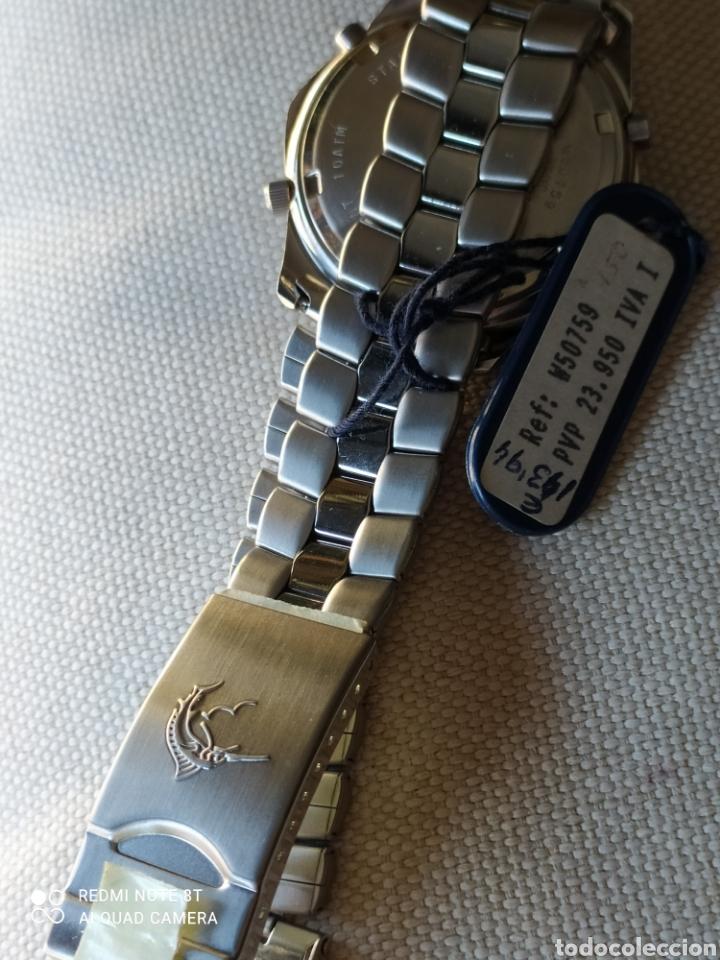 Vintage: Reloj Racer cronógrafo alarma, W.R.100 metros, de stock - Foto 5 - 261065325