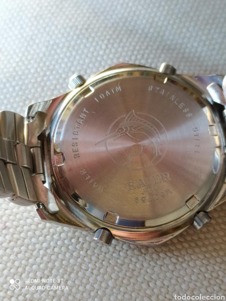 Vintage: Reloj Racer cronógrafo alarma, W.R.100 metros, de stock - Foto 6 - 261065325