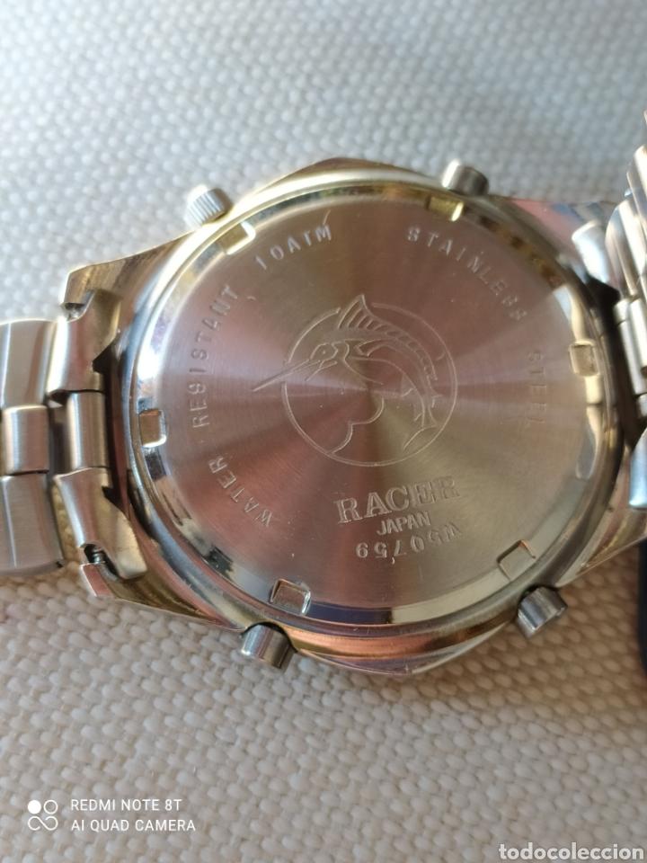 Vintage: Reloj Racer cronógrafo alarma, W.R.100 metros, de stock - Foto 7 - 261065325