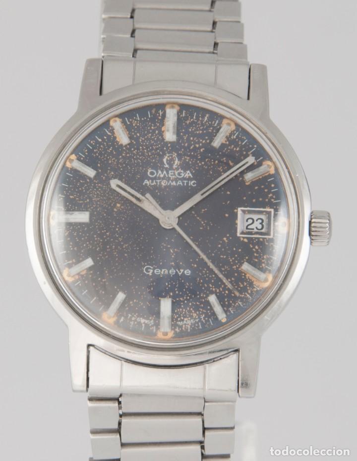 OMEGA AUTOMATIC GENEVE STEEL BLUE DIAL 35MM REF: 166.070 (Relojes - Relojes Vintage )