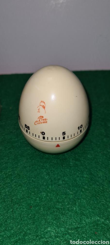 Vintage: Huevo cronómetro minutero con su caja original y con publicidad de una antigua polleria. - Foto 2 - 262374000