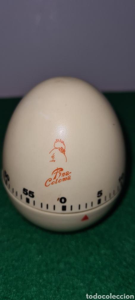 Vintage: Huevo cronómetro minutero con su caja original y con publicidad de una antigua polleria. - Foto 4 - 262374000