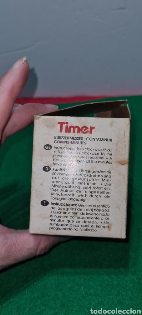 Vintage: Huevo cronómetro minutero con su caja original y con publicidad de una antigua polleria. - Foto 7 - 262374000