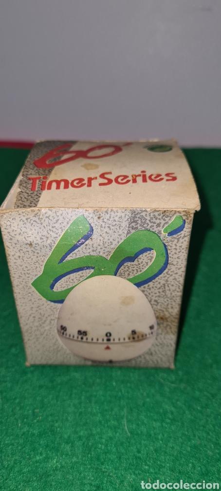 Vintage: Huevo cronómetro minutero con su caja original y con publicidad de una antigua polleria. - Foto 8 - 262374000