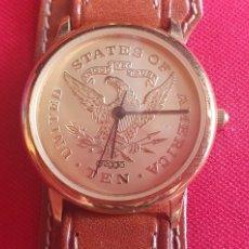 Vintage: RELOJ CUARZO STATES OF AMERICA TEN UNITED .MIDE 33.8 MM DIAMETRO. Lote 263018990