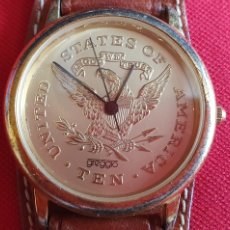 Vintage: RELOJ STATES OF AMÉRICA TEN UNITED CUARZO. MIDE 33.8 MM DIÁMETRO. Lote 263023075