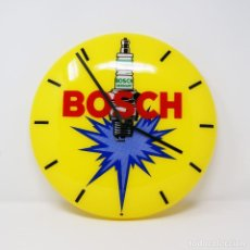 Vintage: VINTAGE 60S BOSCH ADVERTISING WALL CLOCK NOS NEW OID STOCK. Lote 263046110