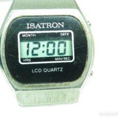 Vintage: ANTIGUO VINTAGE LCD ISATRON AÑO 1980 INUSAL FUNCIONA PERFECTO!!!! LOTE WATCHES. Lote 263048495