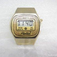 Vintage: BONITO VINTAGE LCD STELLAR AÑO 1980 AÑORABLE BUEN ESTADO FUNCIONA LOTE WATCHES. Lote 263088245