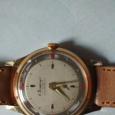 Vintage: RELOJ CLAMOUR SUIZA 17 RUBIS ORO DOBLE CAPA 1950S. Lote 268876499